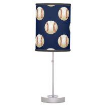 Baseball Balls Sports Pattern Table Lamp