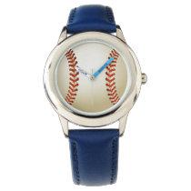 Baseball Balls Sports Pattern Wristwatches