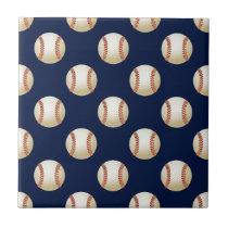 Baseball Balls Sports Tile