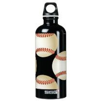 baseball balls water bottle