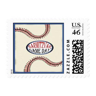 Baseball Bar Mitzvah Postage Stamps