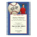 Baseball Bar Mitzvah Save the Date Card