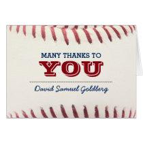 Baseball Bar Mitzvah Thank You Note