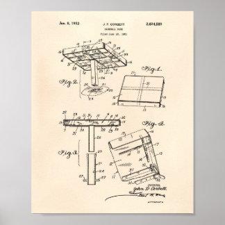 Baseball Base 1953 Patent Art Old Peper Poster