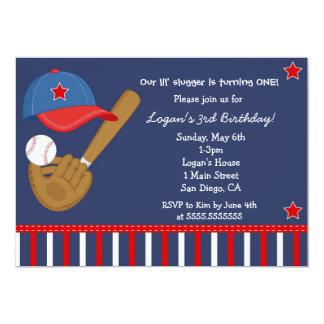 Baseball Base Ball Birthday Invitation