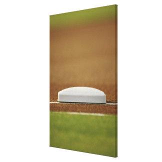Baseball base gallery wrapped canvas