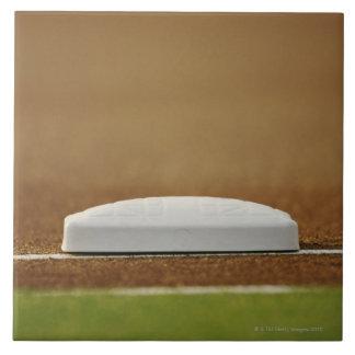 Baseball base large square tile