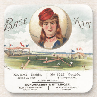 Baseball bases Hit song Vintage From Havana Beverage Coaster