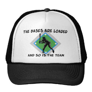 Baseball Bases Loaded Trucker Hat