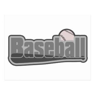 Baseball Bat and Ball Grey Postcards