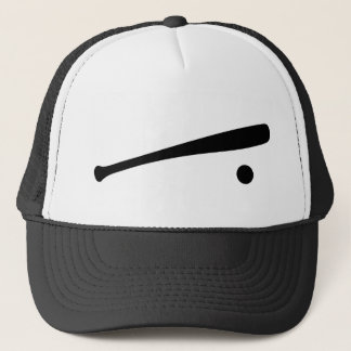 baseball bat and ball icon trucker hat