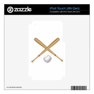 Baseball Bat and Ball iPod Touch 4G Decal