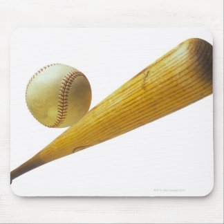 Baseball bat and ball mouse pad