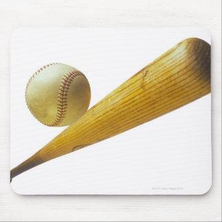 Baseball bat and ball mouse pad