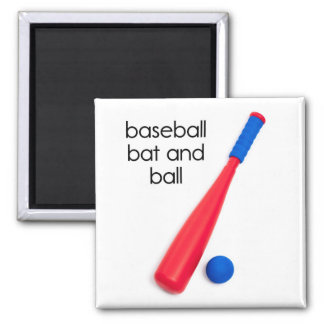 Baseball Bat and Ball Refrigerator Magnet