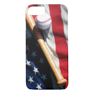 Baseball, Bat and Flag Barely There iPhone 7 Case