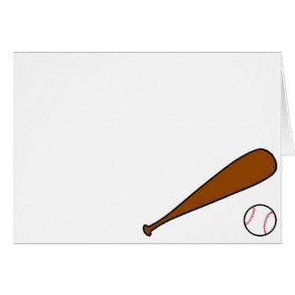 Baseball Bat & Ball Card