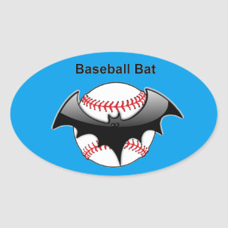 Baseball Bat Bat Oval Sticker