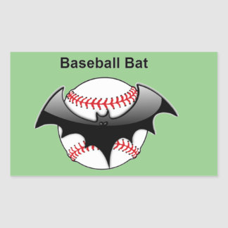 Baseball Bat Bat Rectangular Sticker