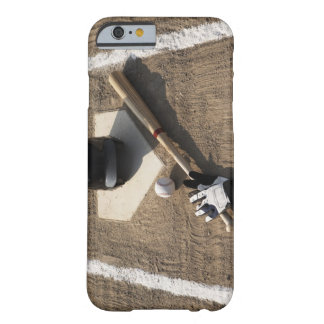 Baseball, bat, batting gloves and baseball barely there iPhone 6 case