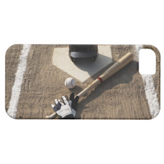 Baseball, bat, batting gloves and baseball iPhone SE/5/5s case