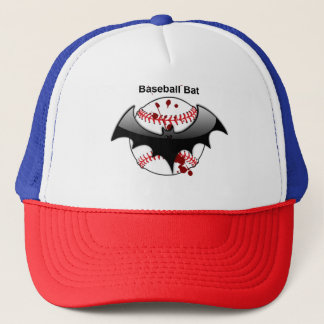 Baseball Bat Blood Trucker Hat