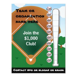 Baseball Bat Chart and Invitation