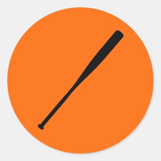 Baseball Bat Classic Round Sticker