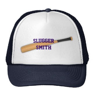 Baseball  bat hat. trucker hat