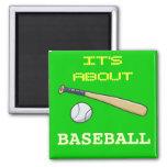 Baseball Bat n Ball Fridge Magnet
