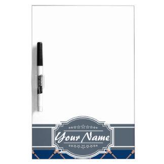 Baseball Bat Pattern in Navy Personalized Dry Erase Board