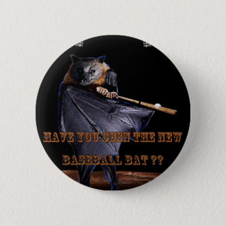 Baseball Bat Pinback Button