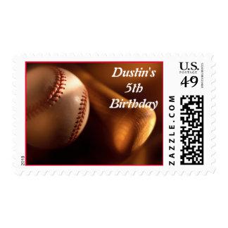 Baseball & Bat Postage Stamps