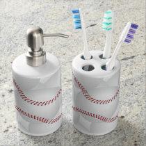 Baseball Bathroom Set