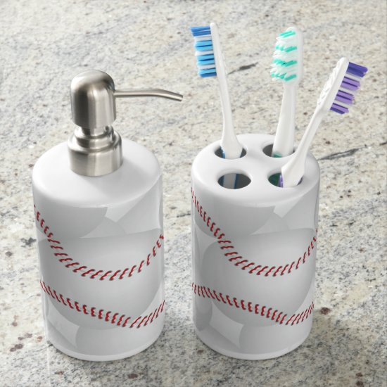 Baseball Bathroom Set