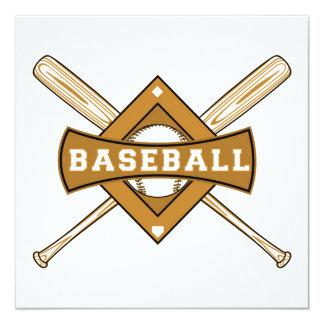 Baseball Bats and Ball T-shirts and Gifts Invitation