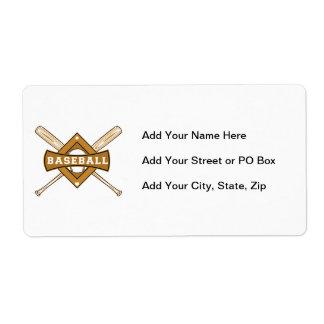 Baseball Bats and Ball T-shirts and Gifts Shipping Label