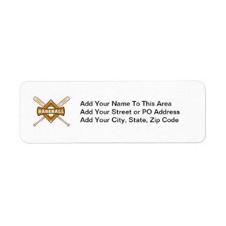 Baseball Bats and Ball T-shirts and Gifts Return Address Label