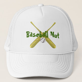 Baseball bats crossed with ball ~edit background trucker hat