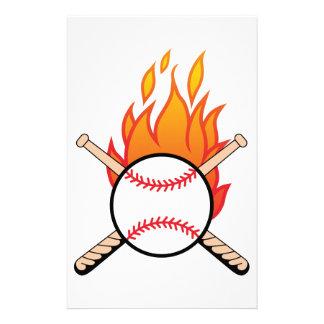 Baseball & Bats Stationery
