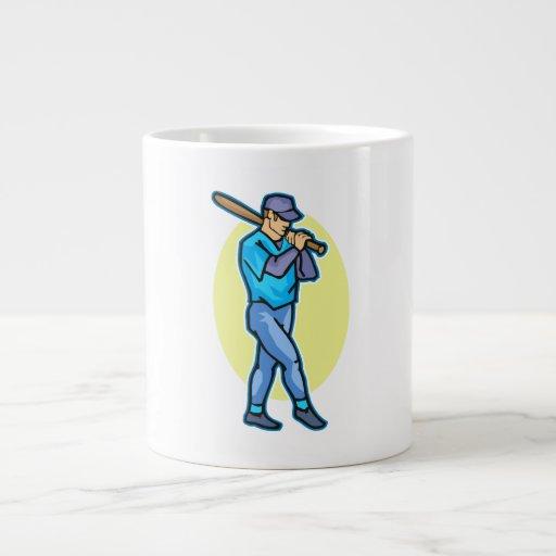 baseball batter 20 oz large ceramic coffee mug
