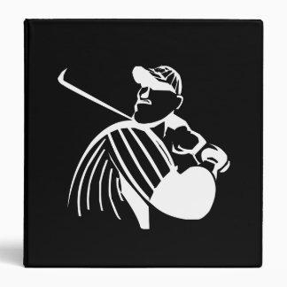 Baseball Batter 3 Ring Binder