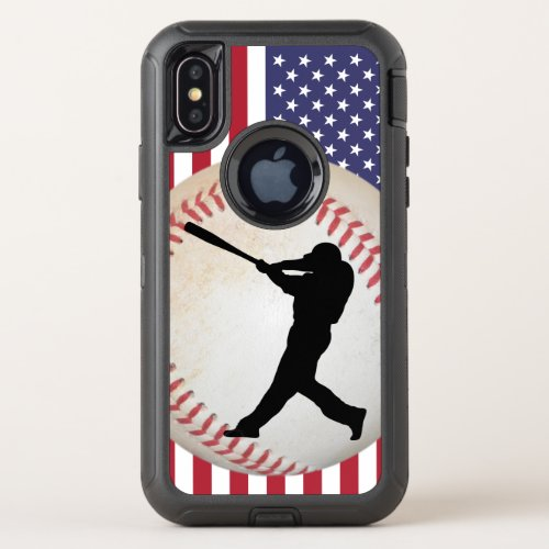 Baseball Batter and American Flag Phone Case