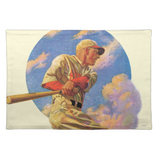Baseball Batter Cloth Placemat