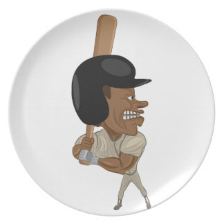 baseball batter dinner plate