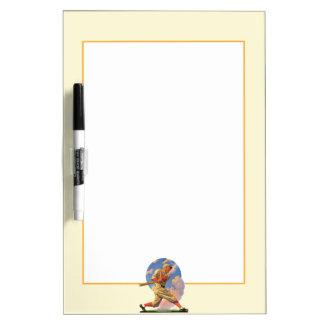Baseball Batter Dry Erase White Board
