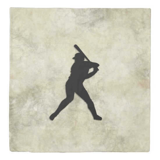 Baseball Batter Duvet Cover