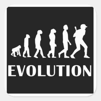 Baseball Batter Evolution Square Sticker