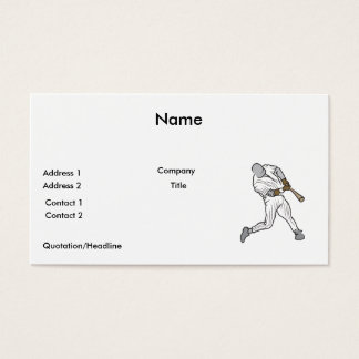 baseball batter graphic business card