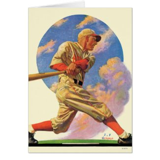 Baseball Batter Greeting Card